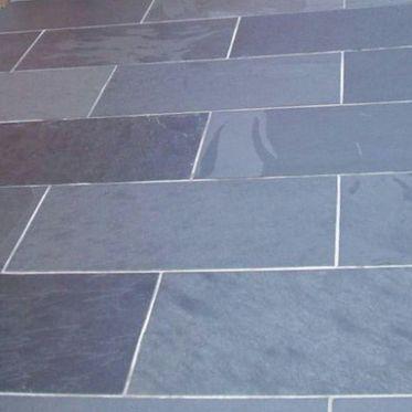 Brazilian Black Slate external paving tiles