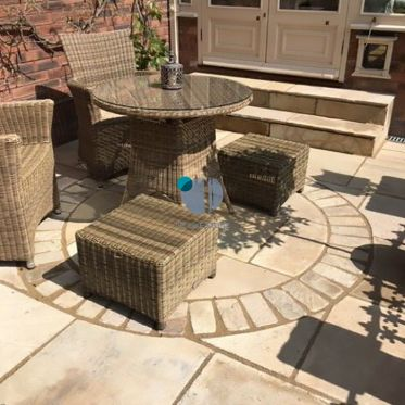 Fossil Mint Sandstone Paving Cobble Setts