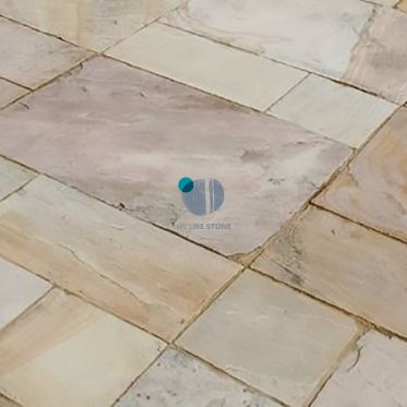 Fossil Mint Tumbled Sandstone Paving