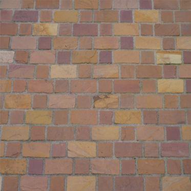 Golden Brown Tumbled Sandstone Paving Cobble Setts