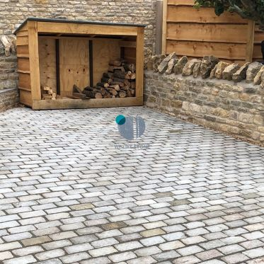 Kandla Grey Sandstone Paving Cobble Setts 200x100mm