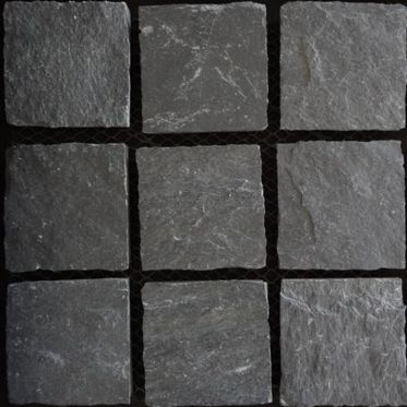 Kotah Black Limestone Paving Cobble Setts
