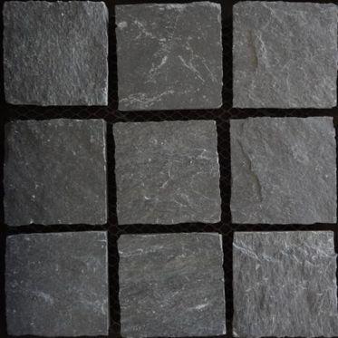 Kotah Black Limestone Paving Cobble Setts