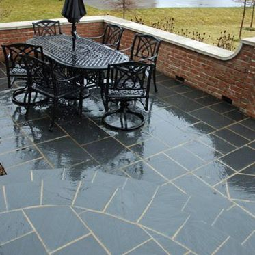 Kotah Black Riven Limestone Paving Slabs & Patio Pack