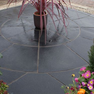 Kotah Black Limestone Paving Circle Kit