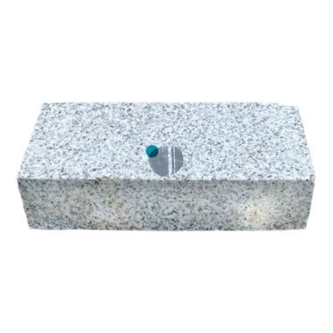 200x100mm silver grey granite cobble sett