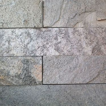 Silver Shine Split Face Quartzite tiles close up