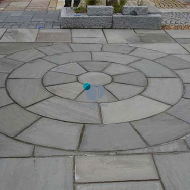 Kandla Grey Sandstone Paving Circle Sett