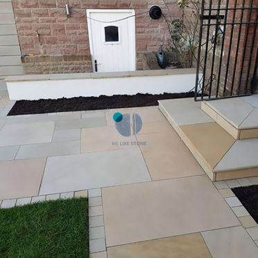 Raj Green Honed Sandstone Paving